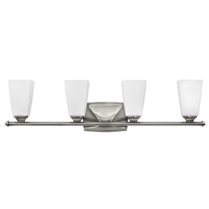 Darby Brushed Nickel Four-Light Bath Sconce