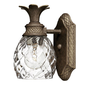 Plantation Pearl Bronze One-Light Bath Fixture
