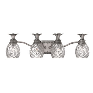 Plantation Nickel Four-Light Bath Fixture