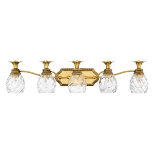 Plantation Burnished Brass Five-Light Bath Light
