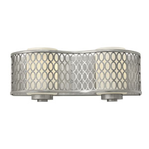 Jules Brushed Nickel Two-Light Bath Fixture