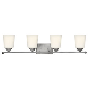 Annette Polished Antique Nickel Four-Light Bath Sconce