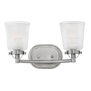 Bennett Polished Antique Nickel 16-Inch Two-Light Bath Light