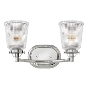 Bennett Polished Nickel Two-Light Bath Sconce