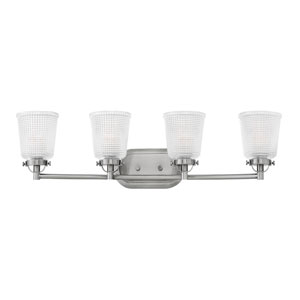 Bennett Polished Antique Nickel 32-Inch Four-Light Bath Light