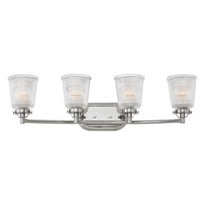 Bennett Polished Nickel Four-Light Bath Vanity