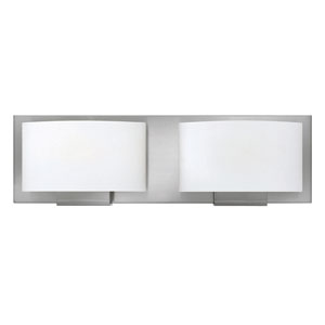 Mila Brushed Nickel 16-Inch Two-Light LED Bath Light
