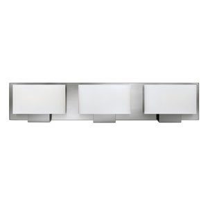 Mila Brushed Nickel Three-Light Bath Vanity