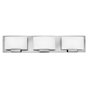 Mila Chrome 24-Inch Three-Light Bath Light
