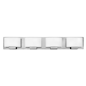 Mila Chrome 32-Inch Four-Light Bath Light