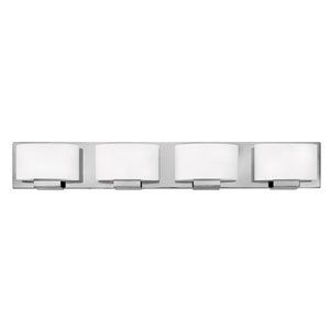 Mila Chrome 32-Inch Four-Light LED Bath Light