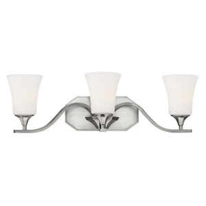 Brantley Brushed Nickel Three-Light Bath Fixture