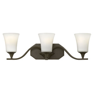 Brantley Olde Bronze Three Light Bath Fixture