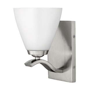 Josie Brushed Nickel One-Light Bath Light