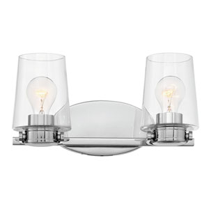 Branson Chrome Two-Light Bath Light