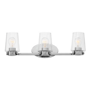 Branson Chrome Three-Light Bath Light