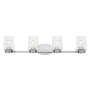Branson Chrome Four-Light Bath Light