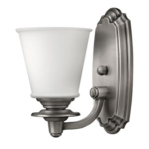 Plymouth Polished Antique Nickel One-Light Bath Sconce