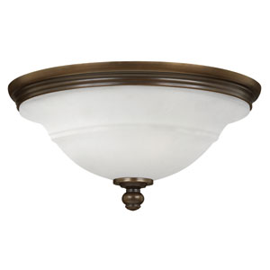 Plymouth Olde Bronze 17-Inch Three-Light Flush Mount