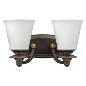 Plymouth Olde Bronze Two-Light Bath Sconce