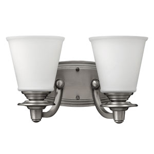 Plymouth Polished Antique Nickel Two-Light Bath Sconce