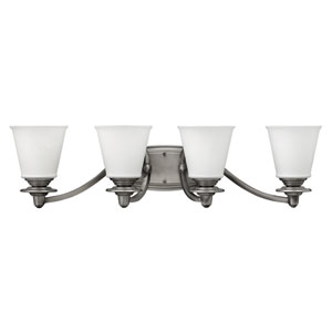 Plymouth Polished Antique Nickel Four-Light Bath Sconce