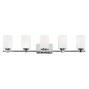 Karlie Chrome Five-Light Bath Light