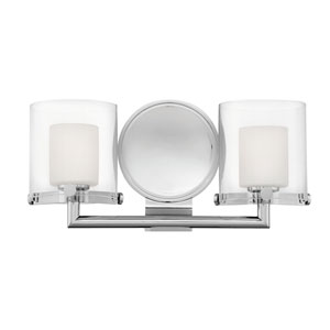Rixon Chrome Two-Light Bath Light