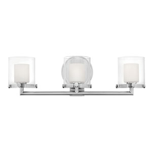 Rixon Chrome Three-Light Bath Light