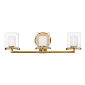 Rixon Heritage Brass Three-Light Bath Light