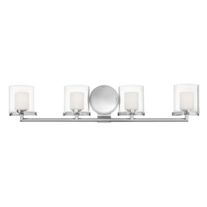 Rixon Chrome Four-Light Bath Light