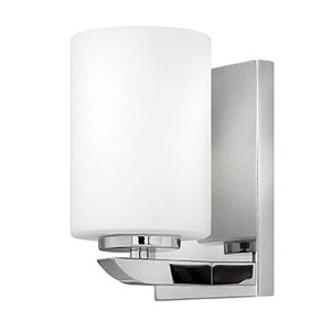 Kyra Brushed Nickel One-Light 8-Inch Bath Wall Sconce
