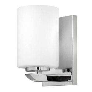 Kyra Polished Nickel One-Light 8-Inch Bath Wall Sconce