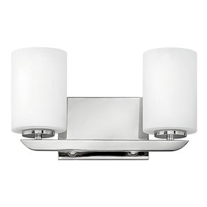 Kyra Brushed Nickel Two-Light 8-Inch Bath Light