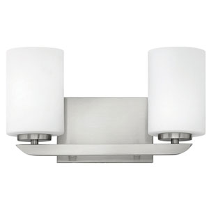 Kyra Polished Nickel Two-Light 8-Inch Bath Light