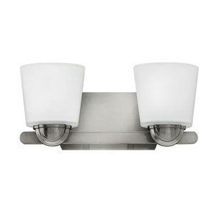 Kylie Brushed Nickel Two-Light Bath Sconce