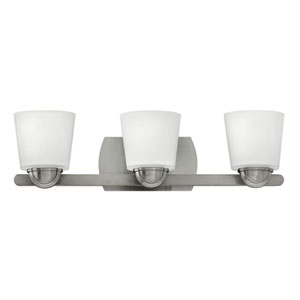Kylie Brushed Nickel Three-Light Bath Sconce