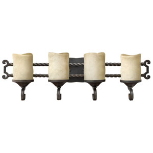 Casa Olde Black Four-Light Bath Fixture