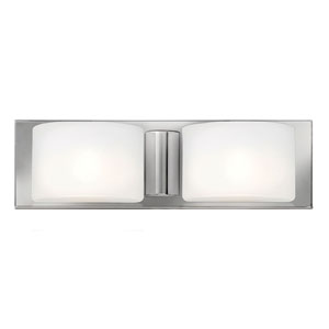 Daria Chrome Two Light Halogen Bath Fixture
