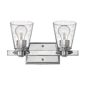 Avon Chrome Two-Light Bath Sconce