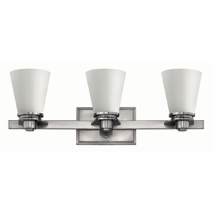 Avon Brushed Nickel Three-Light Fluorescent Bath Fixture