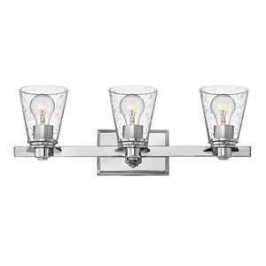 Avon Chrome Three-Light Bath Vanity