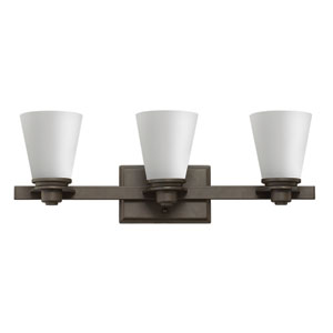 Avon Buckeye Bronze 8-Inch Three-Light Fluorescent Bath Sconce