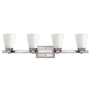 Avon Brushed Nickel Four-Light Bath Sconce