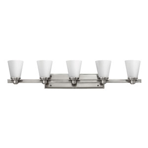 Avon Brushed Nickel Five Light Bath Light