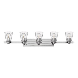 Avon Chrome Five-Light Bath Vanity