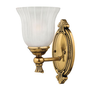 Francoise Burnished Brass One-Light Bath Fixture