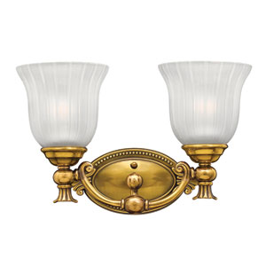 Francoise Burnished Brass Two-Light Bath Fixture
