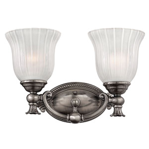Francoise Nickel Two-Light Bath Fixture