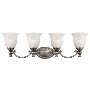 Francoise Nickel Four-Light Bath Fixture